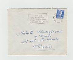 """LSC 1958 - Cachet Paris Tri Et Distribution + Flamme """"9 Mai 1958 8èm Anniversaire .......charbon Et De L'acier """" - Storia Postale"""