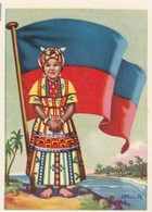 CHROMOS CHROMO - FLAGS OF UNIVERSE - HAITI - FLAG - 8,1 Cm X 5,3 Cm - Histoire