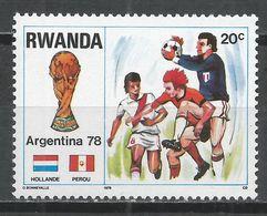 Rwanda 1978. Scott #879 (MNH) World Soccer Cup, Flags * - 1970-79: Neufs