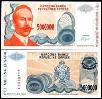 Serpska Republic - 5000000 Dinar 1993 UNC - Yugoslavia