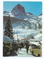 CPM 64 Gourette Station De Ski Et Pic De Ger Voitures Animation - Non Voyagée - Ed Europe - Francia