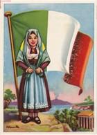 CHROMOS CHROMO - FLAGS OF UNIVERSE -  ITALIA   - FLAG - 8,1 Cm X 5,3 Cm - Histoire
