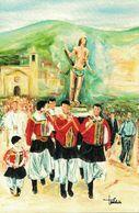 San Sebastiano, Desulo, Nuoro, Sardegna, Marcofilia, Annullo Postale - Santi