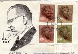 YU+ Jugoslawien 1977 Mi 1686-88 Josip Broz Tito (UNIKAT / ÙNICO / PIÉCE UNIQUE) - 1945-1992 Socialist Federal Republic Of Yugoslavia