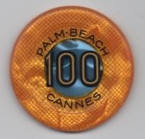 Jeton De Casino Palm-Beach à Cannes 100F - Casino