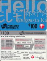 HONG KONG - Hongkong Telecom Prepaid Card $100, Exp.date 30/11/97, Used - Hong Kong