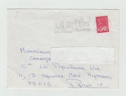 """LSC - Cachet MAUREPAS  Et Flamme   """"Maurepas Ville Nouvelle"""" - Mechanical Postmarks (Advertisement)"""