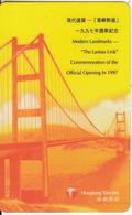 HONG KONG - Bridge, The Lantau Link, Hongkong Telecom Prepaid Card $100, Exp.date 30/06/98, Used - Hong Kong