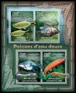 CENTRAFRICAINE 2012 SHEET FRESHWATER FISHES MARINE LIFE POISSONS EAU DOCE FRISCHWASSERFISCHE PECES Ca12206a - República Centroafricana