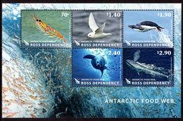 Ross Dependency 2013 Antarctic Food Web Souvenir Sheet Unmounted Mint. - Ross Dependency (New Zealand)