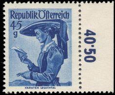 Austria 1948-52 45g Costumes Unmounted Mint. - 1945-60 Unused Stamps