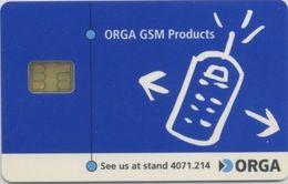 Geneva World Telecom '99 ORGA GSM Demo Card - Phonecards