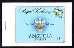 Anguilla 1981 Royal Wedding Booket Unmounted Mint. - Anguilla (1968-...)