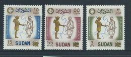 Sudan 1959 Army Revolution Anniversary Set 3 MNH - Sudan (1954-...)
