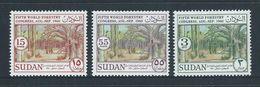 Sudan 1960 Forestry Congress Set 3 MNH - Sudan (1954-...)