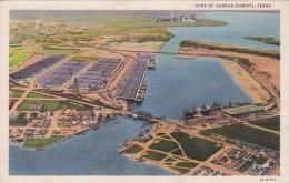 Texas Corpus Christi Aerial View Of Port Curteich - Corpus Christi