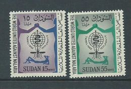 Sudan 1962 WHO Malaria Eradication Set 2 MNH - Sudan (1954-...)