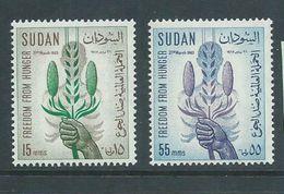 Sudan 1963 FFH Freedom From Hunger Set 2 MNH - Sudan (1954-...)