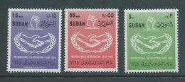 Sudan 1965 ICY International Co-operation Year Set 3 MNH - Soudan (1954-...)