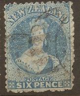 NZ 1871 FFQ 6d Pale Blue SG 136 U #AID157 - 1855-1907 Crown Colony