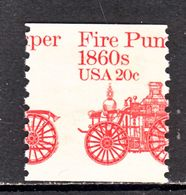 U.S.  1908     **   MIS-PERF  FIRE  PUMP - Errors, Freaks & Oddities (EFOs)