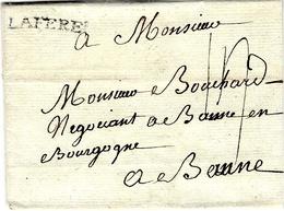 1780- Lettre De LAFERE  ( Aisne )  Lenain L 4  Taxe 14 Sous  Pour Beaune - Marcophilie (Lettres)