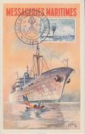 Carte   FRANCE   SALON   NAUTIQUE   INTERNATIONAL    PARIS    1962 - Postmark Collection (Covers)