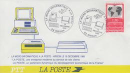 Enveloppe  FRANCE   La  Micro Informatique  à  La  POSTE     HIRSON    1985 - Poste
