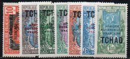 Tchad  37/42 ,44 * - Unused Stamps