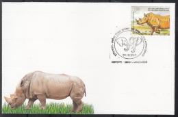 India 2015  Rhinoceros  Ahmedabad  Cover #  09407   D  Inde Indien - Rhinozerosse