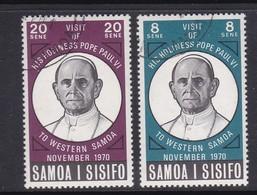 Samoa SG 358-359 1970 Visit Of Pope Paul To Samoa,used - Samoa