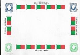 CARTOLINA FILATELICA PORTOGHESE -VIAGGIATA 1992 FRANCOBOLLO ASPORTATO - Francobolli (rappresentazioni)
