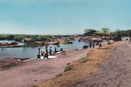 CPSM 9X14 . AFRICOLOR. MALI . Bords Du Niger (envoyée De Bamako) - Mali