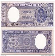 Chile - 5 Pesos 1958 - 1959 UNC Pick 119 Lemberg-Zp - Chile
