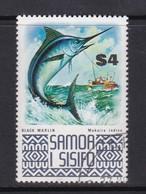Samoa SG 399b 1974 Marine Life,Black Marlin, Used - Samoa
