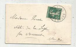 Lettre , 1911 , NANTES PREFECTURE, VOUVANT , Vendée , 3 Scans - Marcophilie (Lettres)