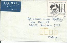 AUS005 - AUSTRALIA -LETTERA DA SUMMER HILL A ROVERETO 1995 - POSTAGE PRE PAID - 1990-99 Elizabeth II