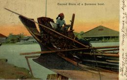CARVED STERN OF A BURMESE BOAT     INDIA  ASIA - Myanmar (Burma)