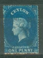 Ceylon: 1861/64   QV   SG19a    1d   Dull Blue   Used - Ceylon (...-1947)