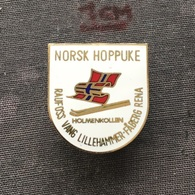 Badge (Pin) ZN006709 - Skiing / Ski Jumping Norway Holmenkollen Raufoss Vang Lillehammer Faberg Rena - Winter Sports