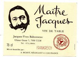 Etiquette Vin Bourgogne Maitre Jacques Frankreich Ulm - Vin De Pays D'Oc