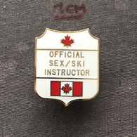 Badge (Pin) ZN006710 - Skiing Canada Sex/Ski Instructor - Winter Sports