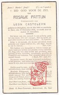 DP Rosalie Pattijn ° Bekegem Ichtegem 1861 † Ieper 1936 X L. Castelyn - Devotion Images