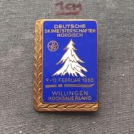 Badge (Pin) ZN006711 - Skiing Germany Willingen Hochsauerland National Championships 1966-02 - Winter Sports