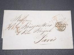 """FRANCE - Marque D 'entrée """"Angl. Calais """" Sur Lettre Pour Paris En 1859 - L 15267 - Marcofilia (sobres)"""