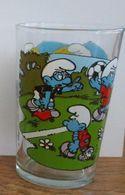 Ancien Verre à Moutarde  SCHTROUMPFS  1990 - Publicité