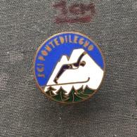 Badge (Pin) ZN006717 - Skiing / Ski Jumping Italy Ponte Di Legno - Winter Sports