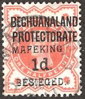 MAFEKING SIEGE 1900 SG 6 OVPT 6, 1D ON ½D VERMILION VF/U - África Del Sur (...-1961)