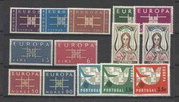 1963 EUROPA CEPT EUROPE ANNATA  YEAR 19 Paesi (36 Valori) MNH** - Europa-CEPT