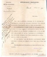 Monsieur J.DUC,adjudant De Gendarmerie.La Lude (Sarthe)1 Page.Ministère De La Guerre.4 Juillet 1907. - Historical Documents